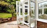Fabrik-Preis-Niedriges-e Glasaußentür-doppeltes Aluminiumschwingen-französische Tür