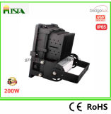 garantia ao ar livre da luz de inundação 5years do diodo emissor de luz da ESPIGA 200W