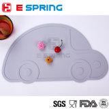 Tapete de refeição de silicone em forma de carro para crianças Placemat flexível