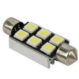 回転シグナルライトのための7000-8000k Canbus 39mm 6SMD 5050 LEDの自動ランプ