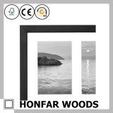 Bâti en bois noir de photo d'illustration de photo de l'étalage 3 pour la décoration à la maison