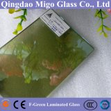 стекло 5mm+0.38PVB+3mm F-Зеленое отражательное прокатанное строя