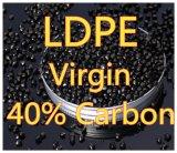 Schwarze Masterbatch 40% LDPE-Körnchen-Plastikjungfrau