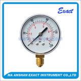 까만 강철 케이싱 압력 측정하 공기 시험 압력 측정하 진공 압력계