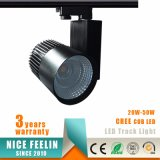 Schwarzes/weißes Farbe Ra>80 CREE Marke 30W PFEILER LED Spur-Licht
