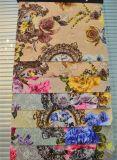 Tela de la impresión del paño grueso y suave que hace punto para la cortina