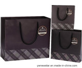 Bolso de papel negro del regalo de la alta calidad con la maneta