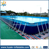 Kundenspezifische rechteckiges Metallrahmen-Pool-Stahlplastikschwimmen-Wasser-Pools