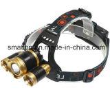 L'alto zoom del CREE LED di Pwer registra il faro della batteria ricaricabile di caccia