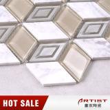 台所のための不規則なガラスモザイク組合せの石のタイル