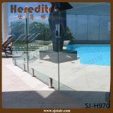 Het Traliewerk van het Balkon van het Glas van Frameless van de veiligheid met de Sponnen van het Roestvrij staal (sj-H927)