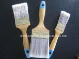Escova de pintura da escova do animal de estimação com punho de madeira