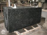 Escalier gris-clair de pierre du granit G640 avec le bord de Diffent