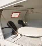 Machine sèche de sablage avec la plaque tournante
