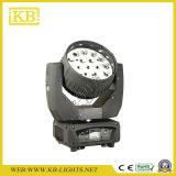 Iluminación principal móvil de la aureola LED de la viga 19PCS*15W con el zoom