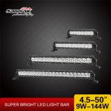 """9W 4.4 """" sola barra ligera delgada estupenda de la fila LED"""