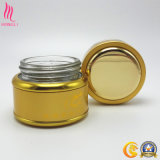 Derisione cosmetica dorata della bottiglia dell'OEM in su