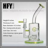 Qualité 8 pouces en verre vert de Toro Slyme fumant la conduite d'eau de Pyrex avec le gicleur Perc par le narguilé impétueux importé américain de couleur
