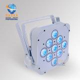Rasha 9*10W construido en proyector delgado plano sin hilos de la IGUALDAD de la luz LED de la IGUALDAD del color 4in1 RGBW/RGBA LED del patio con DMX512