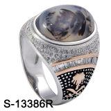 최신 925의 은 반지 자연적인 돌 남자 반지 판매