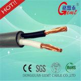 Câble résistant en caoutchouc de câble du néoprène d'en cuivre de fil de la chaleur de vente de pétrole de résistance de câble en caoutchouc chaud de silicium