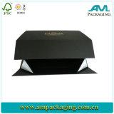 Casella di carta impaccante di goccia della parte anteriore di pattino del contenitore del nero di stile gigante della scatola pieghevole