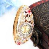 Reloj cristalino de la joyería de las mujeres del regalo de la manera