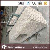 Badkamers Vanitytop van het Graniet van China de Rustieke Gele met de Dubbele Gootstenen van het Porselein