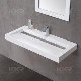 Lavabo italien de salle de bains de pierre de marbre de grand dos de type