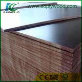 la película de 18 milímetros hizo frente a la madera contrachapada para el encofrado concreto en la construcción
