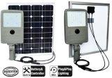 Réverbère solaire breveté du modèle 45W DEL avec la batterie au lithium de 1000 cycles
