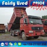 필리핀에 있는 판매를 위한 사용된 6*4 덤프 트럭 HOWO