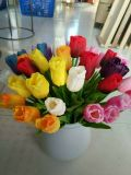 Mejores ventas de flores artificiales de la PU del tulipán Gu0118134344