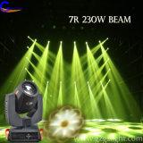 7r luz principal móvil profesional de la etapa de la viga 230W LED para el partido del hogar del disco