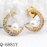 新しいモデルの方法宝石類の真珠のイヤリングの銀925