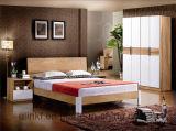 Живущий оптовая продажа двойной кровати твердой древесины мебели комнаты (HX-LS035)