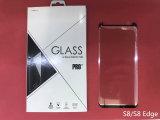 Più piccola protezione dello schermo di vetro Tempered di versione 3D per il bordo di Samsung S8/S8