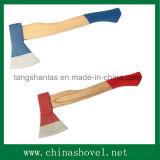 Ascia del acciaio al carbonio dell'utensile per il taglio dell'ascia con la maniglia di legno
