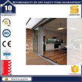 Portas interiores dobro de alumínio horizontais de vidro geado da folha com As2047