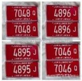 Matériau en aluminium de pétrole de numéro de plaque sourde-muette de véhicule pour la plaque décorative r3fléchissante de véhicule