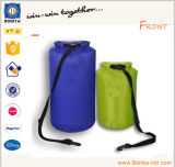 Sacchetto asciutto trasportante sicuro di galleggiamento rosso pieghevole di verde blu della tela incatramata breve