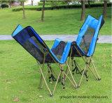 Cama de acampamento de espreguiçadeira de metal ao ar livre