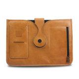 Echtes Leder-Tablette-Kasten-Deckel-Geschäfts-Umschlag-Kupplungs-Datei-Faltblatt
