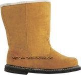 Zapatos de seguridad del cuero grabado de la fractura con la goma Outsole