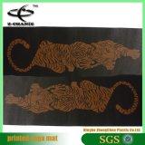 Couvre-tapis de la meilleure qualité de yoga de couvre-tapis de yoga de PVC estampé par coutume amicale d'Eco