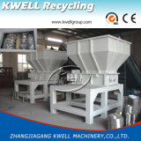 Desfibradora de reciclaje plástica del eje doble del PVC del animal doméstico del PE de los PP del ABS