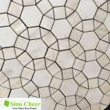아름다운 꽃 Waterjet 디자인 대리석 모자이크 타일 패턴