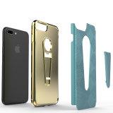 2017 produtos de tensão galvanizam a caixa do telefone com o Kickstand para o iPhone 7