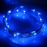 LEDの妖精の装飾的なストリングはリモート・コントロールRFの適用範囲が広いスライバ銅線ロープライトをつける