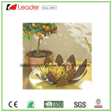 Flowerpots rustiques de tête enduits par pouvoir peint à la main en métal pour la décoration de maison et de jardin